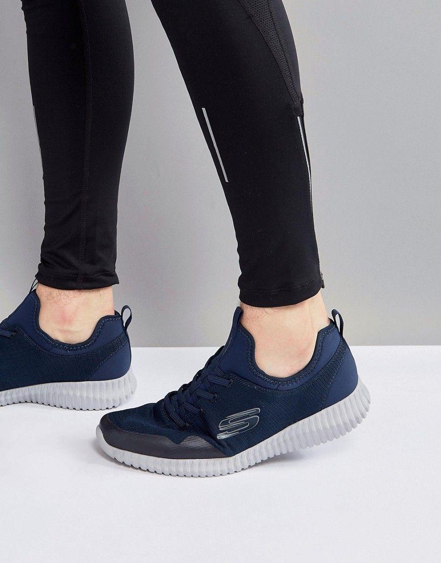 Skechers Elite Flex Lasker Sneakers In Blue Blue
