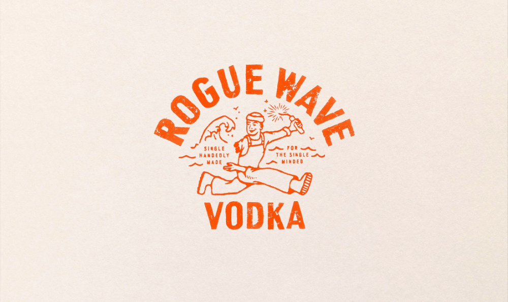 Love Unveil New Vodka Brand For Brewdog A Tribute To Founder S One Armed Cousin Creative Boom In 2020 Vodka Brands Vodka Rogue Wave