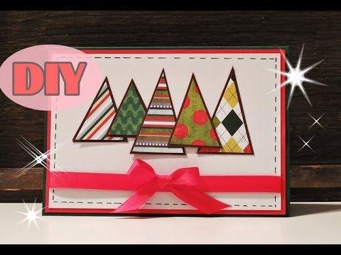 weihnachtskarten selber basteln 2 weihnachtsbaum christmas card diy weihnachtskarten. Black Bedroom Furniture Sets. Home Design Ideas