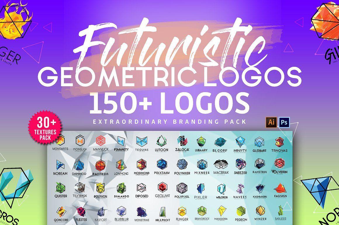 1400 Logos Mega Bundle Pack Geometric logo, Logo bundle
