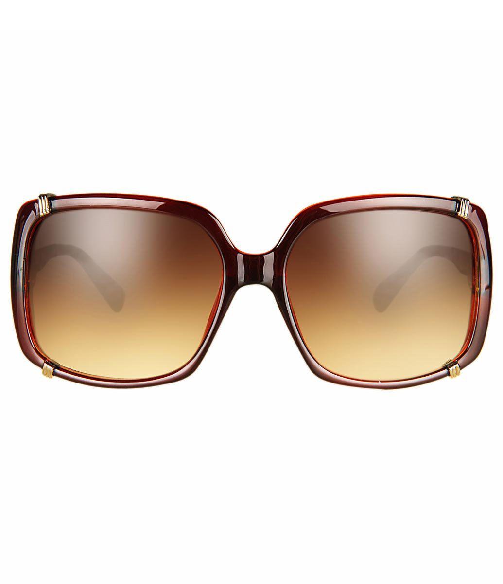 6849e484a3e64 Óculos de sol feminino Modelo quadrado Hastes em acetato Lentes em acrílico  Proteção contra raios UVA