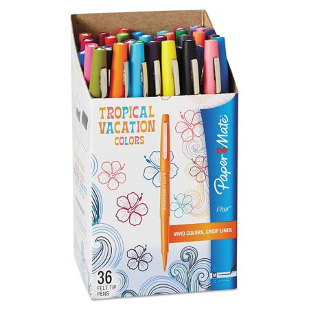 Paper Mate Fine Felt Tip Pens Pack of 18 Assorted Colours