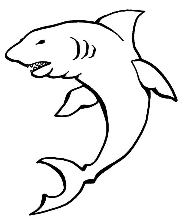 A Drawing Of Cookiecutter Shark Coloring Page Shark Coloring Pages Coloring Pages Drawings