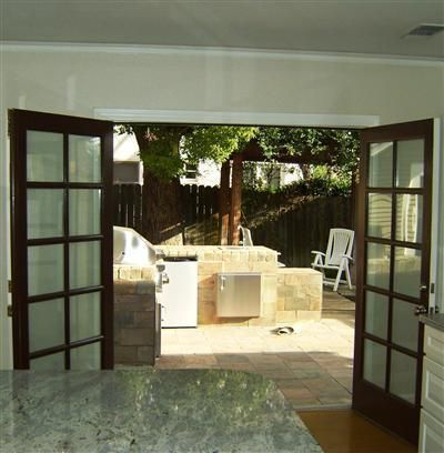 French Doors. Open In Or Out? (replacing Garage Door)