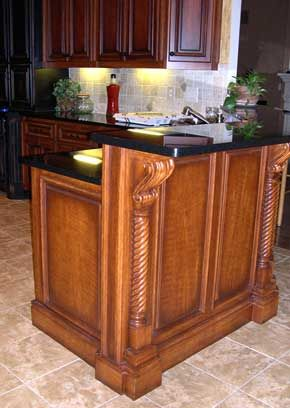 Island Take base cabinet, build bar height and attach   La Cuisine ...
