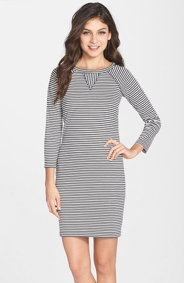 7d43d637b4c French Connection 'Licorice Lines' Stripe Jersey Shift Dress available at  #Nordstrom