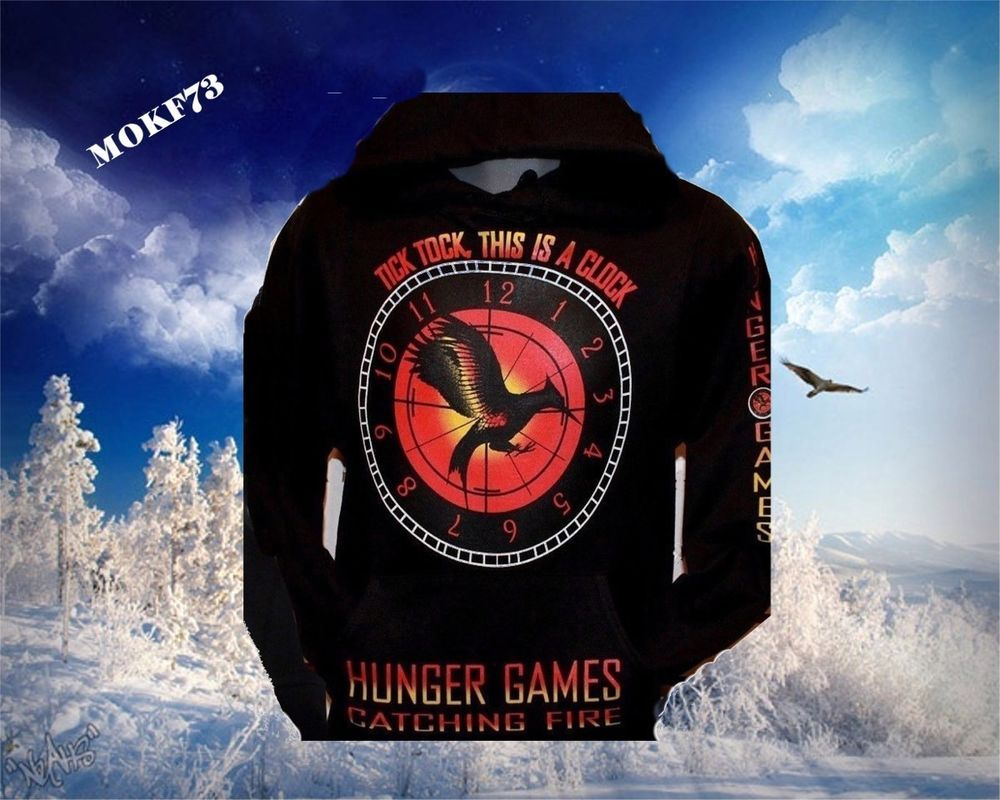 Hooded Sweat Hoodie Hunger Games Catching Fire #PC #Hoodie