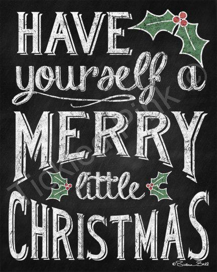 Tenga Un Feliz Navidad Cartelito Sobre Lienzo Por Tickledpinkgoods More