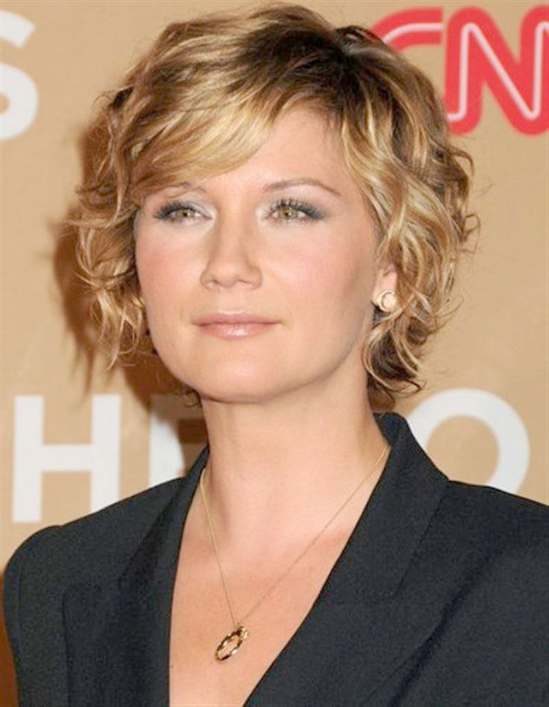Short Curly Wavy Hairstyles and trendy hair color