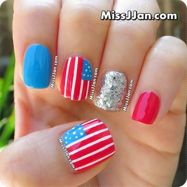 ★ Tutorial ★ 4th of July Nail Art