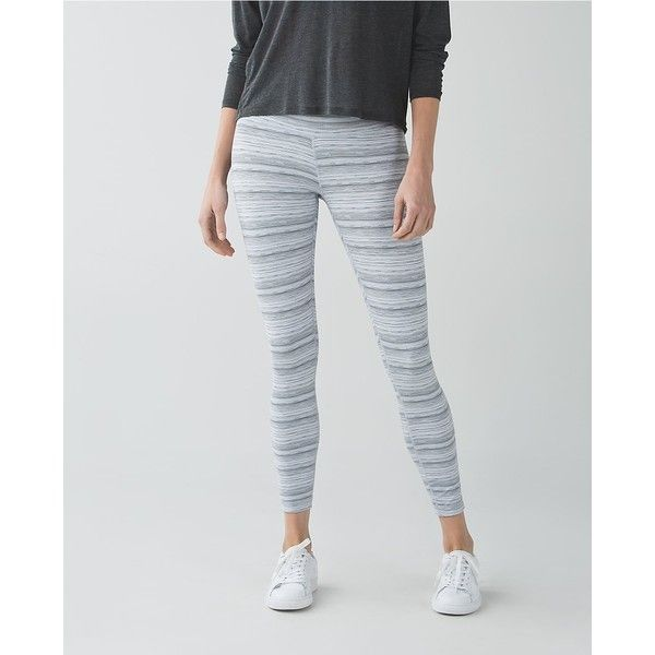 lululemon High Times Pant *Luxtreme ($98) ❤ liked on Polyvore featuring activewear, activewear pants, cyber stripe white silver fox, lululemon and yoga activewear