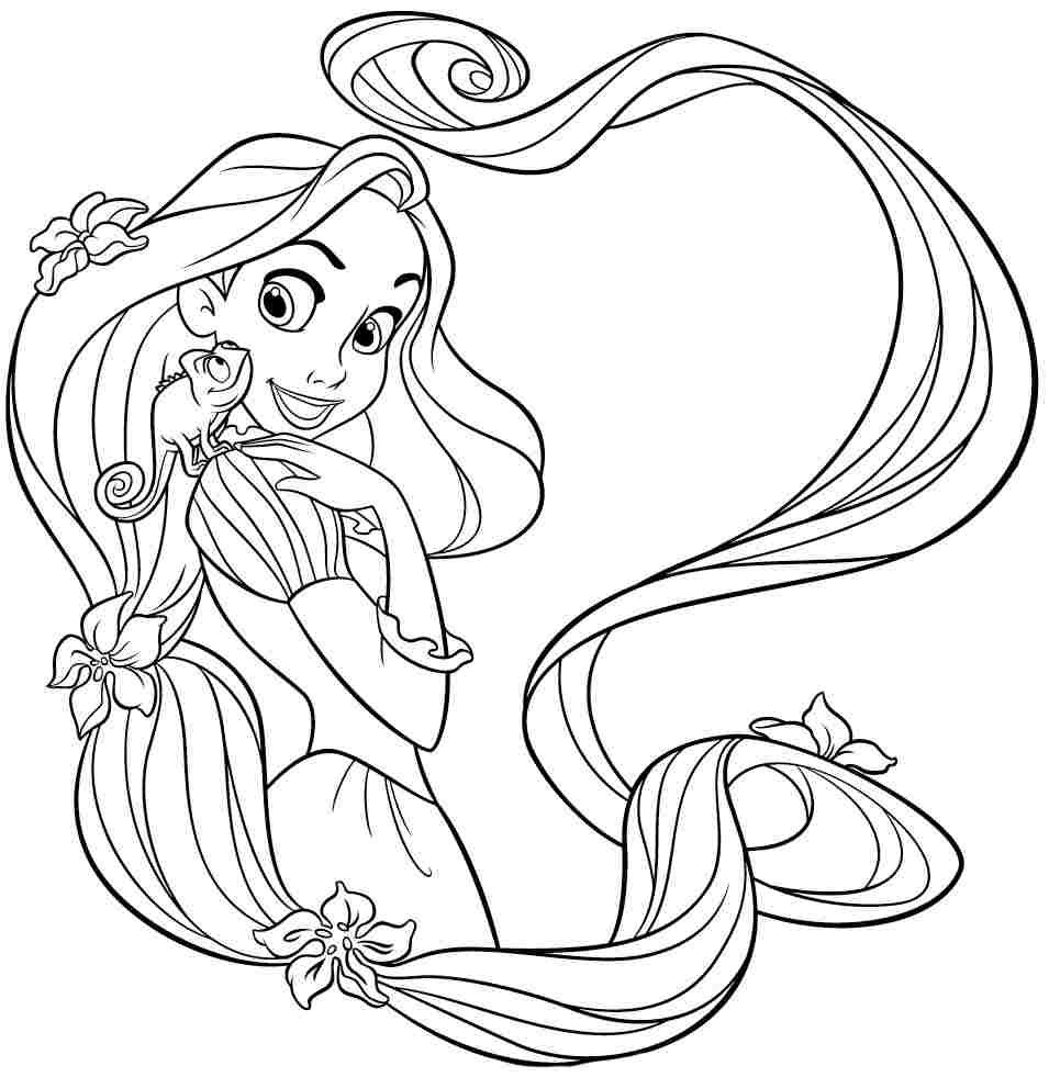 Disney Princess Rapunzel Coloring Sheets Free For Preschool 55959