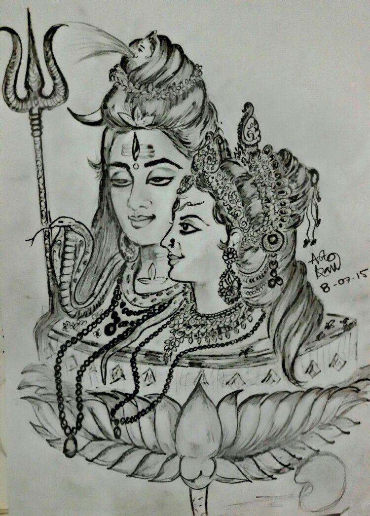 Pencil sketching sketches shiva art art background croquis kunst draw sketch