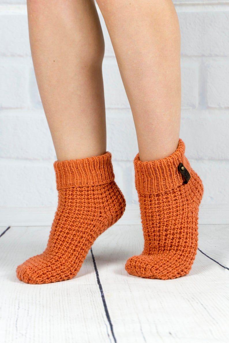 cozy socks valentines day gift Crochet Wool Socks Valentines day socks brown socks girls socks warm socks wool socks women