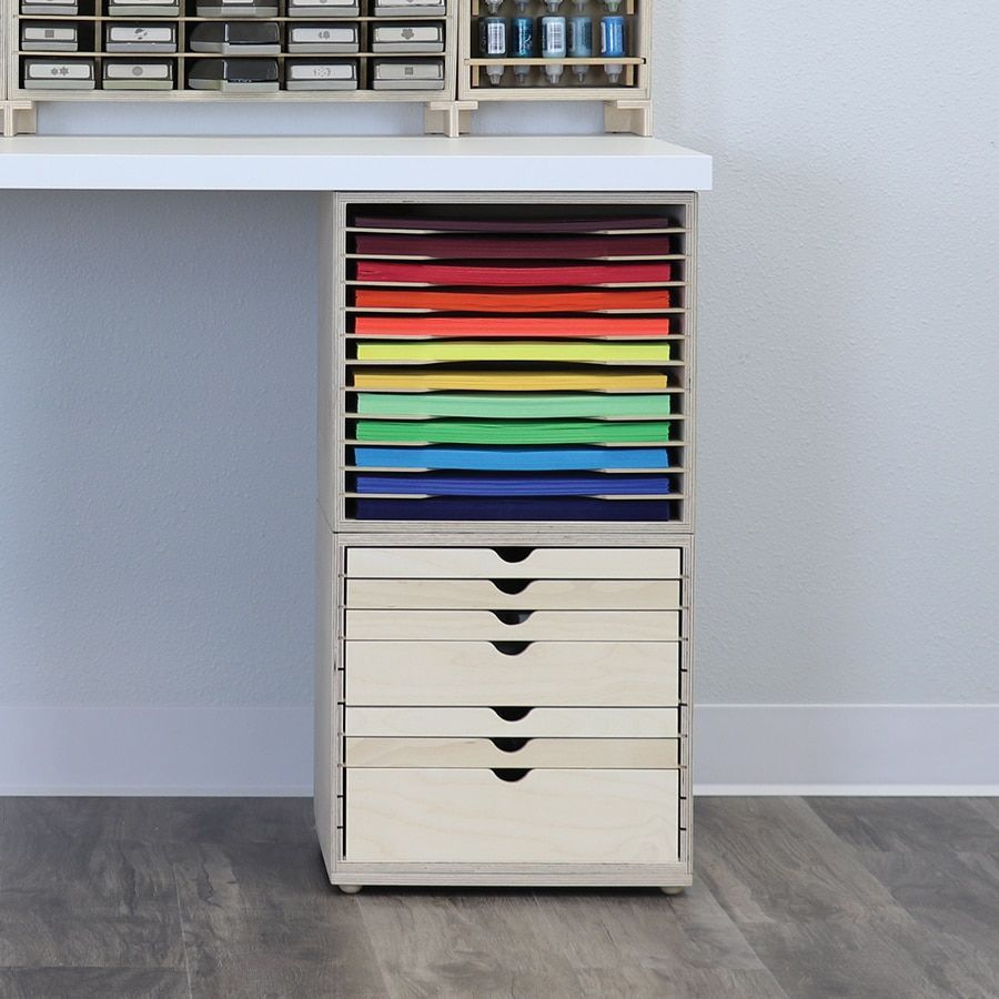Paper And Craft Organization For Ikea Tabletops Office Supply Organization Storage Craft Room Desk