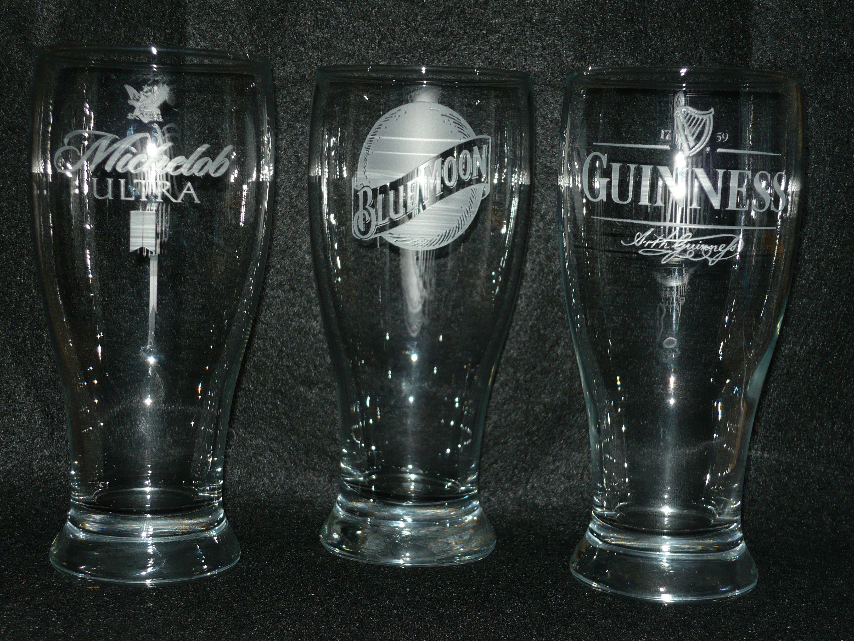 Custom etched beer logo glasses. Glasses logo, Glasses, Beer