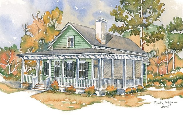 Southern Living Plan SL1876 Front Exterior