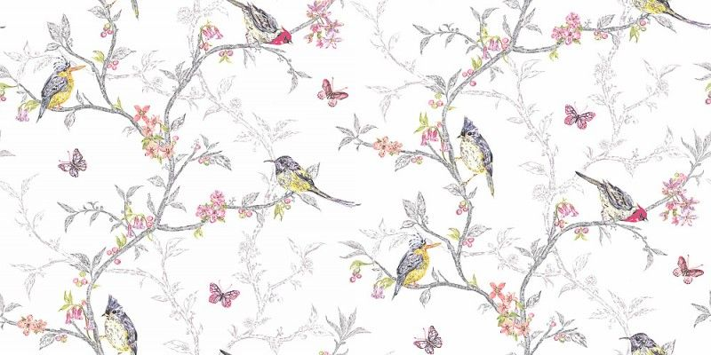 Phoebe white 98080 albany wallpapers an all over trailing wallpaper design