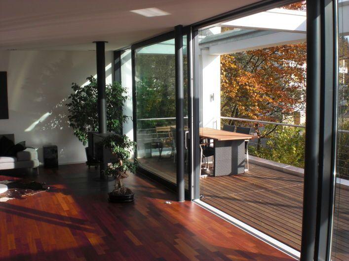 Schiebet r mit terasse k che esszimmer pinterest schiebe t r haus und fenster - Bodentiefe schiebefenster ...
