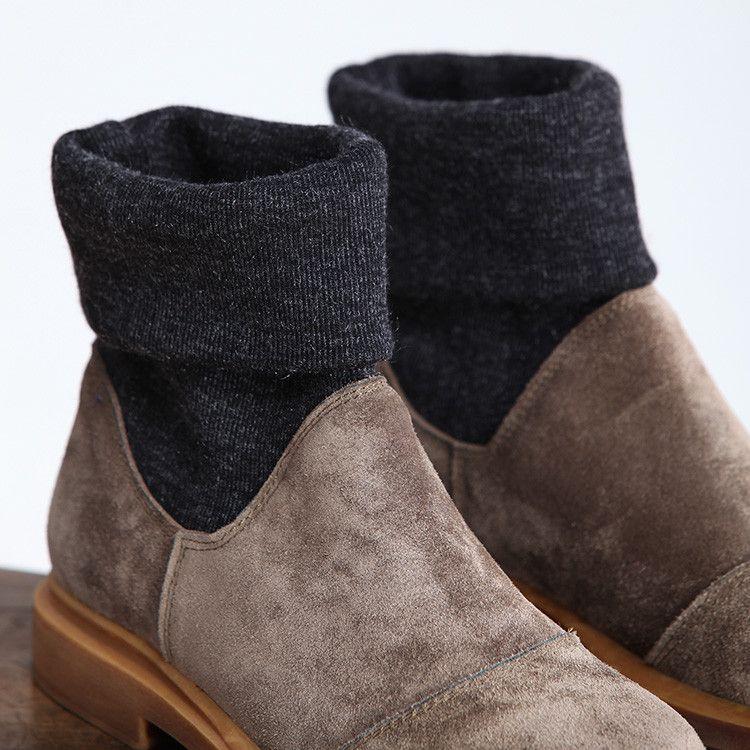 Vrouwen vintage brief boots - Tkdress - 1