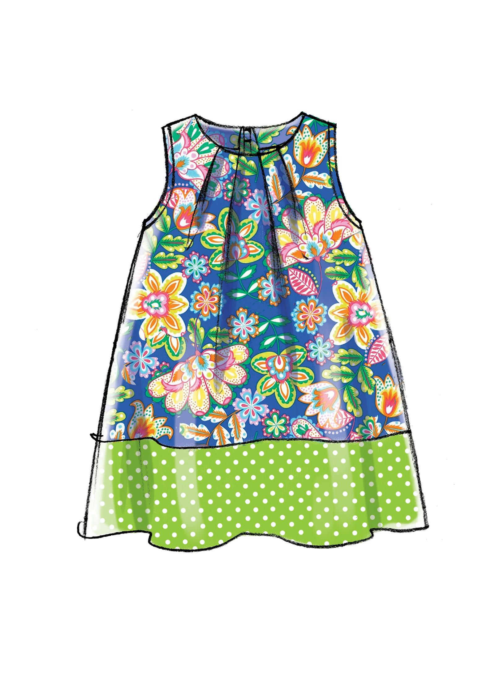 McCalls Sewing Pattern M7308 Toddlers/' Tent Dresses
