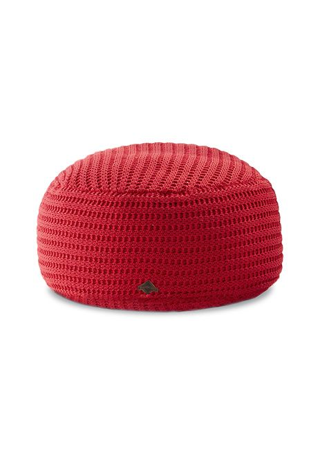 Beaver Canoe For Target Knitted Pouf Available In Red Charcoal