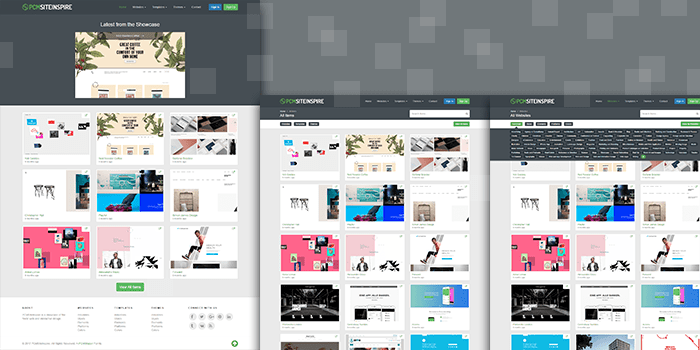 PHP Application Software for SiteInspiration Showcase