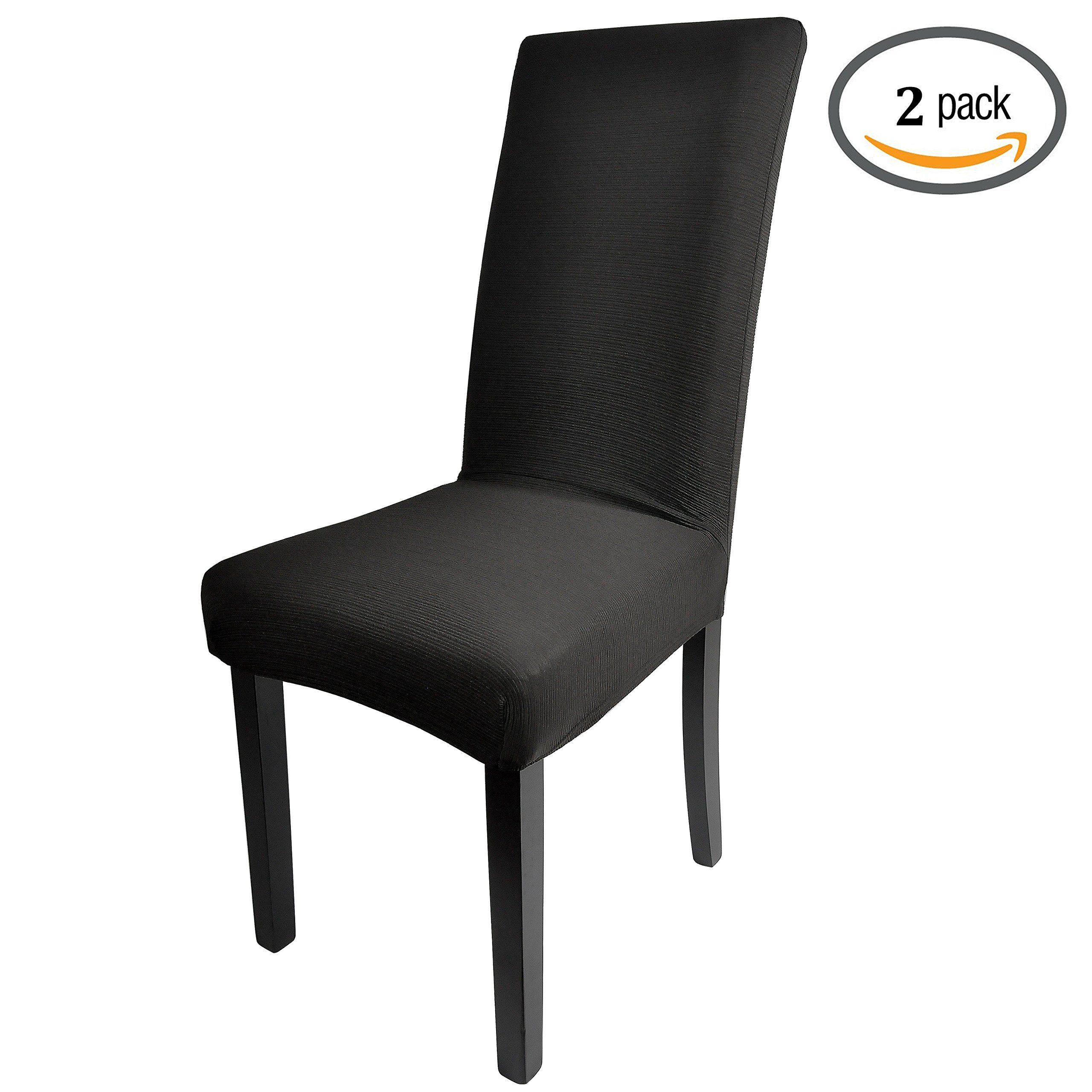 Dining Room Chair Covers LIXFDT Jacquard Stretch Double