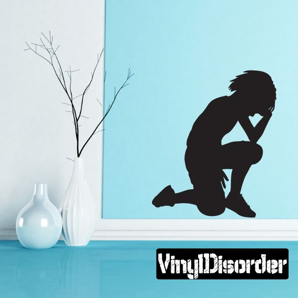Praying Boy Wall Decal - Vinyl Decal - Car Decal - 015