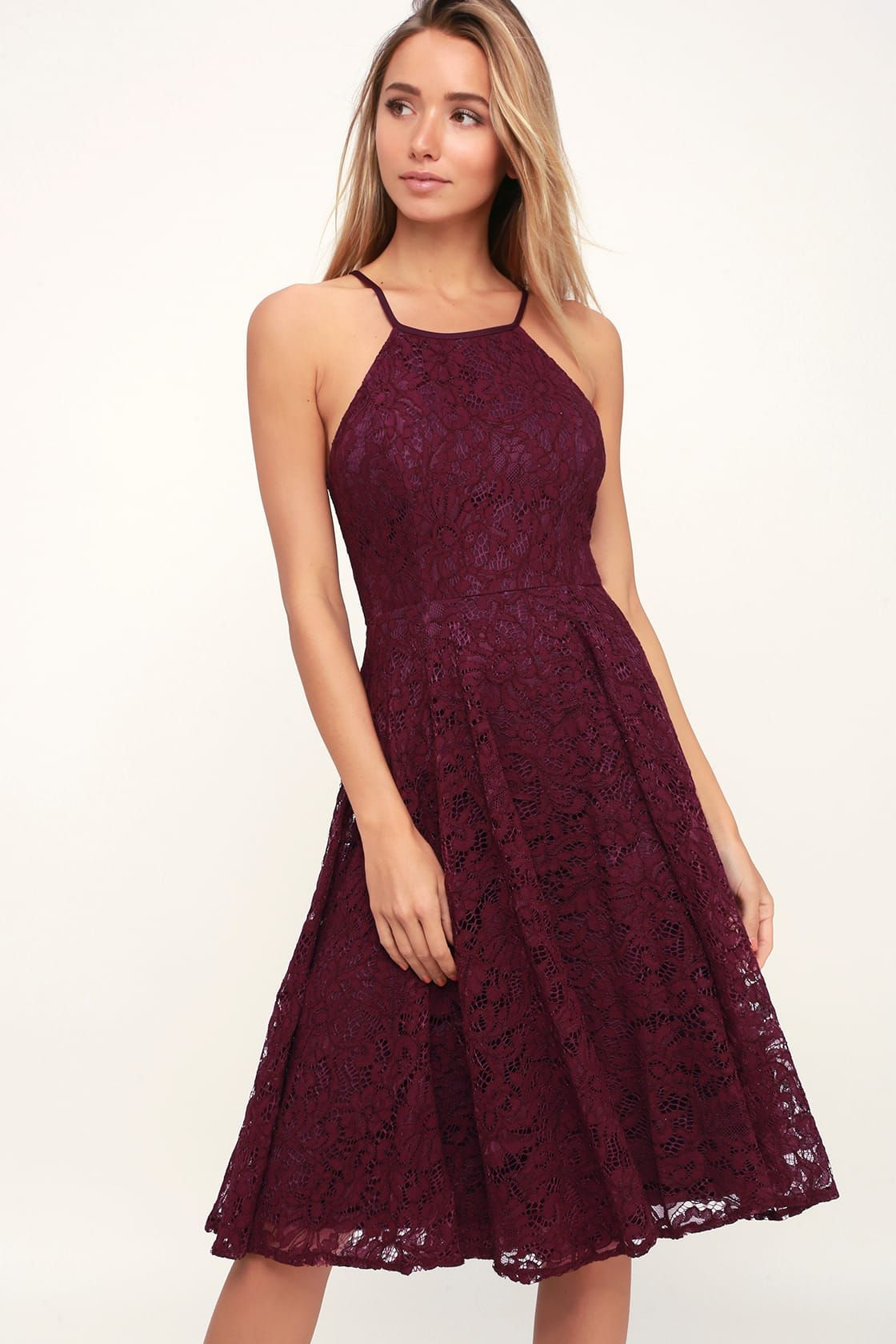 7a4c24bf8c3022 Endlessly Infatuated Plum Purple Lace Midi Dress in 2019 | For the ...