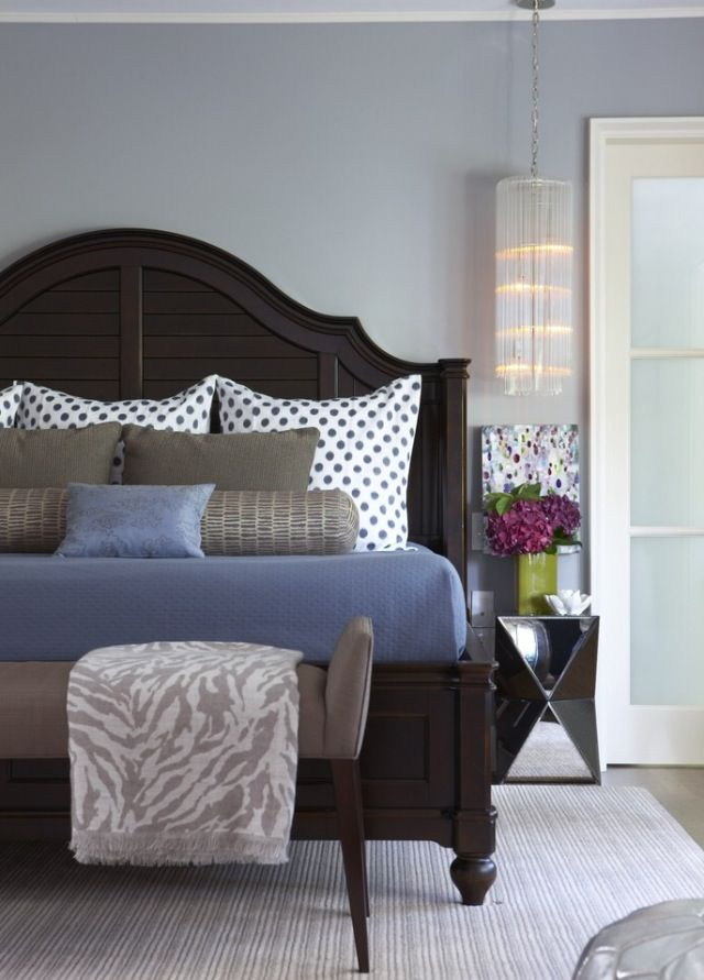 Dark room | Dark wood bedroom furniture, Modern bedroom ...