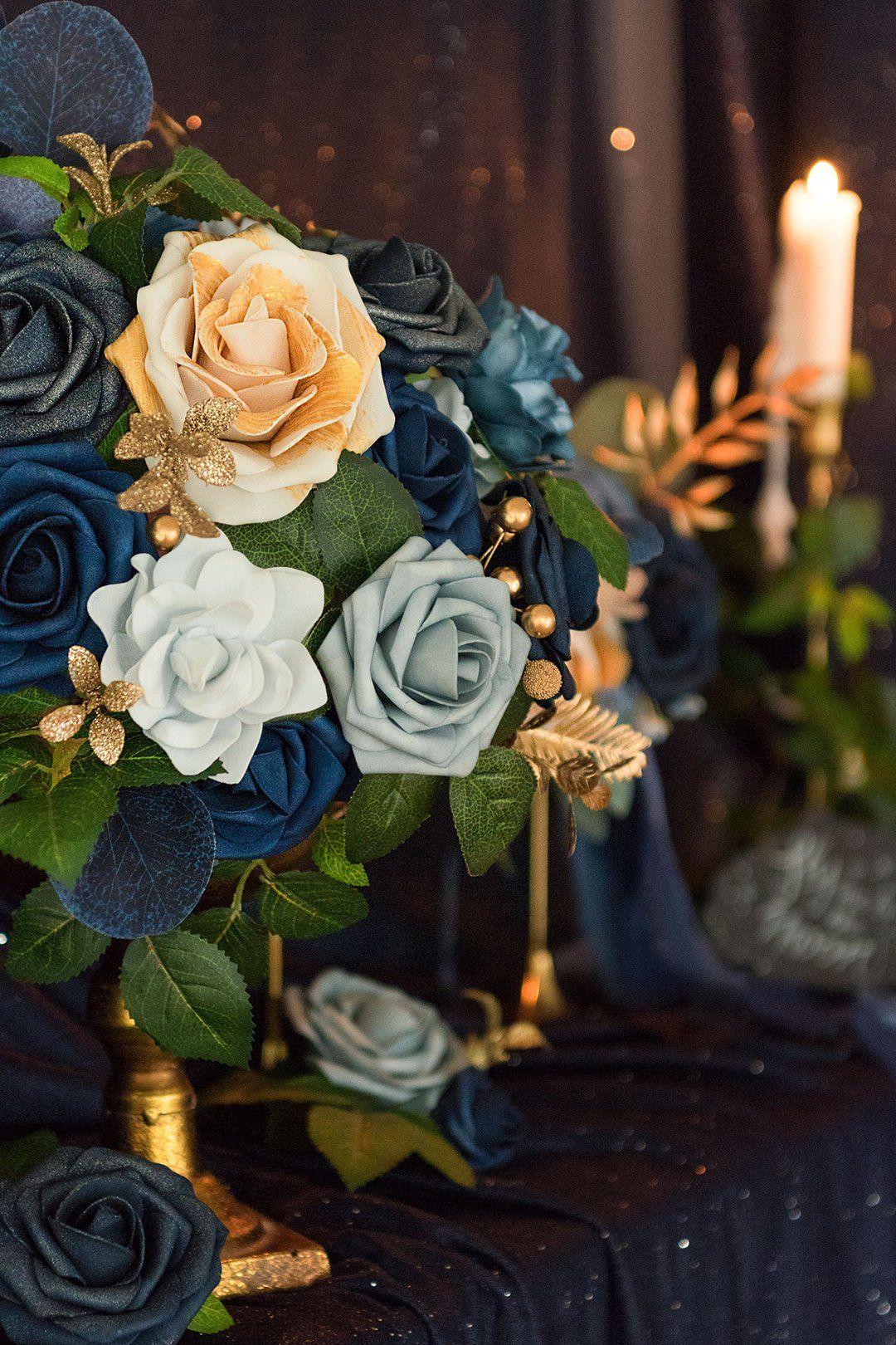 Dusty blue flowers box set 19 styles in 2020 blue