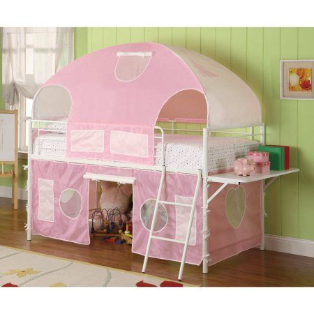 Sweetheart Tent Loft Bed Pink And White Walmart Com Loft Bed Bunk Bed Tent Bed Tent