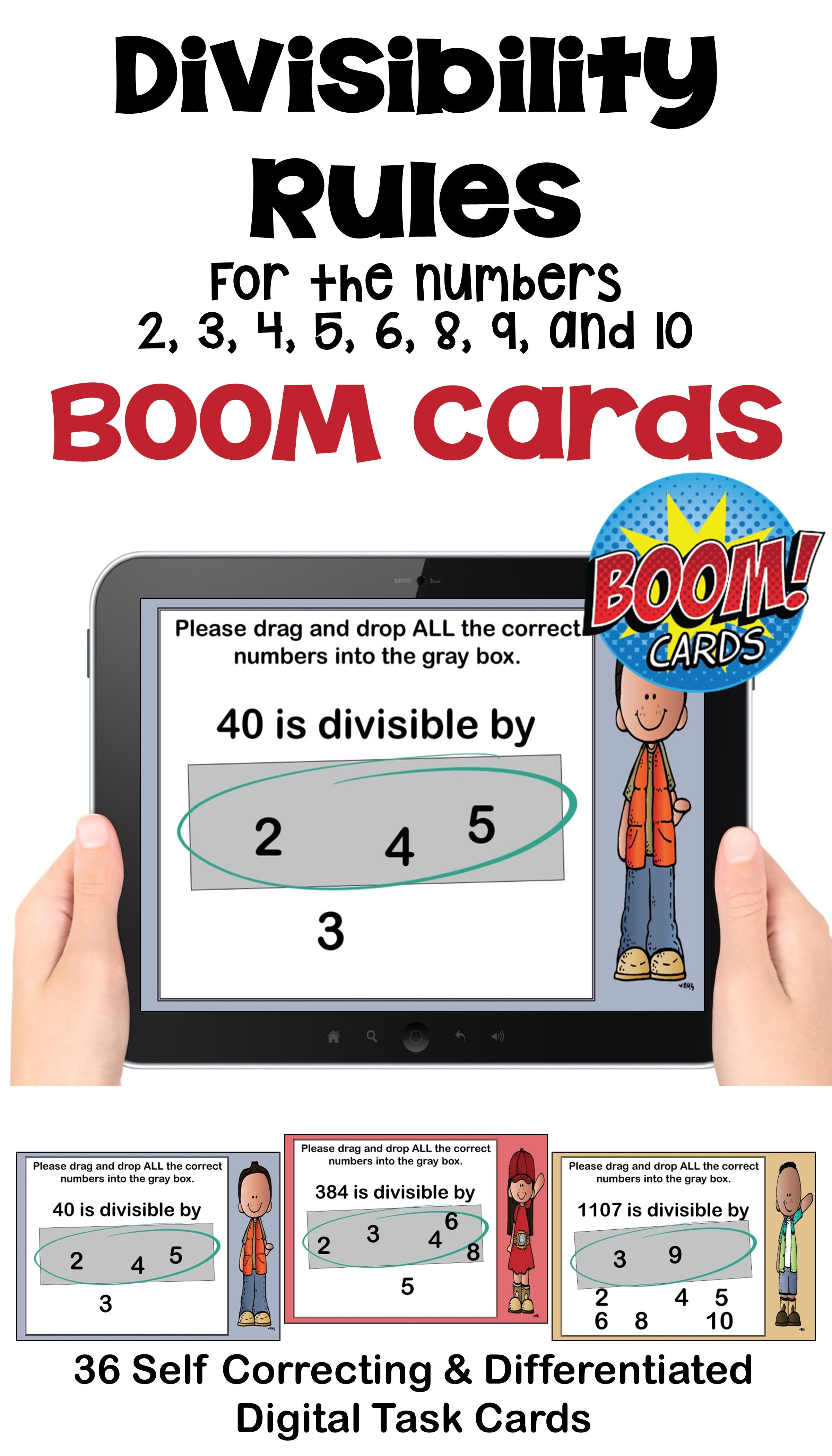 Divisibility Rules Boom Cards