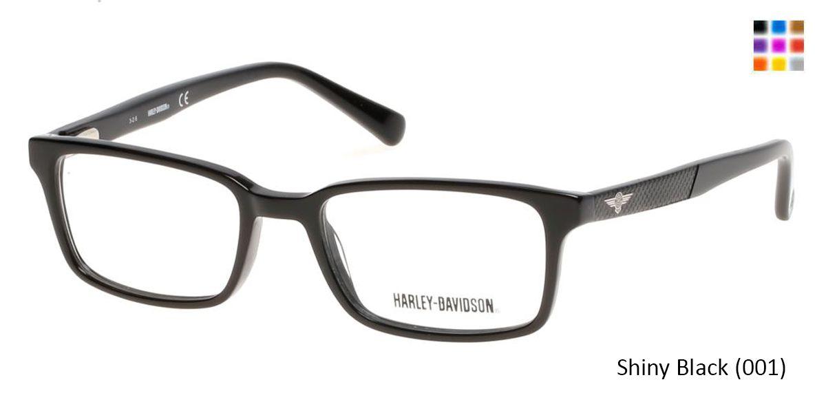 16a80fdf50 HARLEY-DAVIDSON HD0127T - Shiny Black (001) Eyeglasses