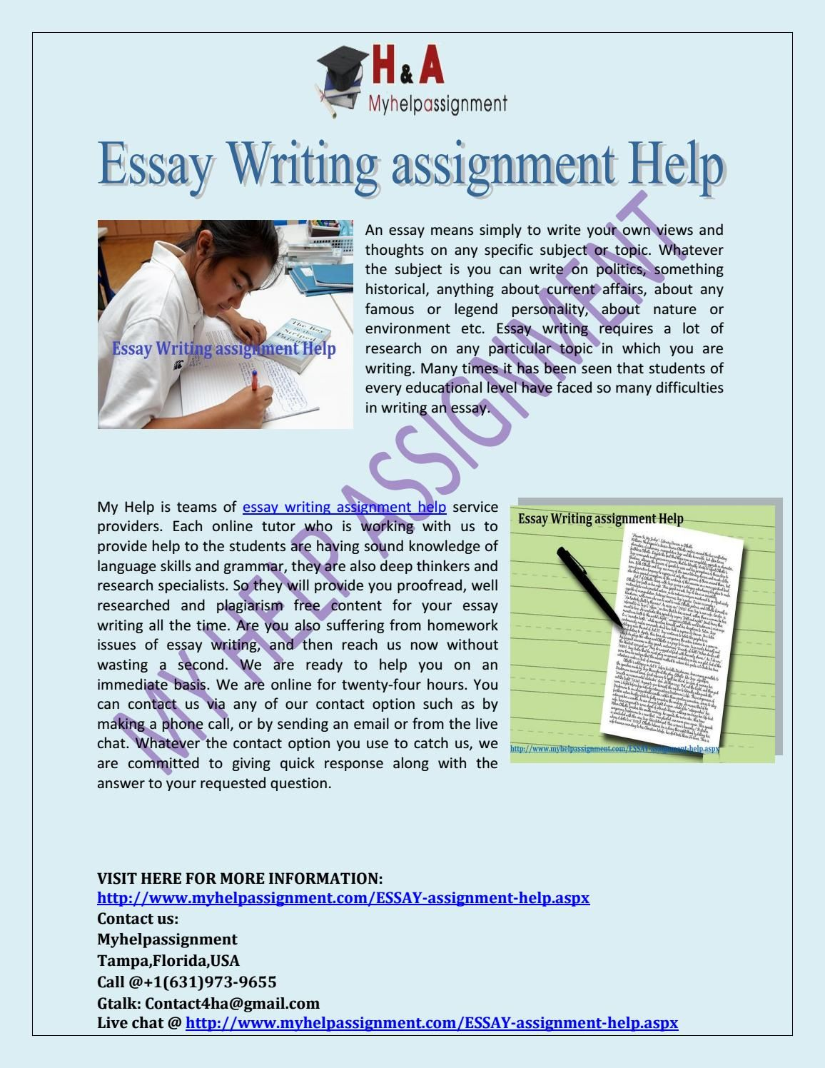Help correct my essay