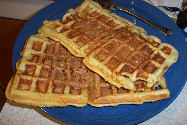 Peach Waffles. Photo by dicentra
