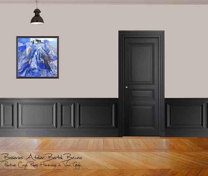 Porte et lambris bertoli maison boiserie murale moulure murale et parement mural - Peinture boiserie porte ...