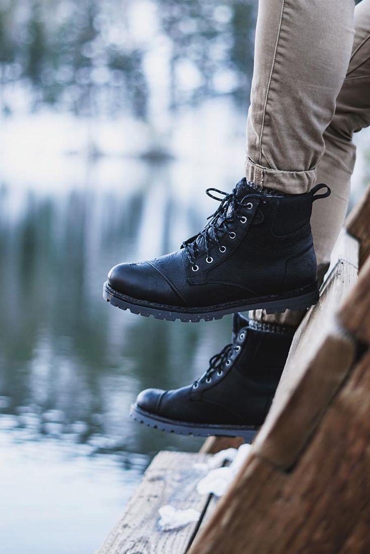 a1ca3bac0a Waterproof Black Leather Herringbone Men s Ashland Boots. Photo by Sam C.