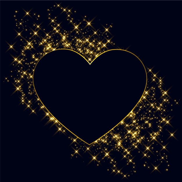 Download Hearts Made With Golden Sparkles Background for free