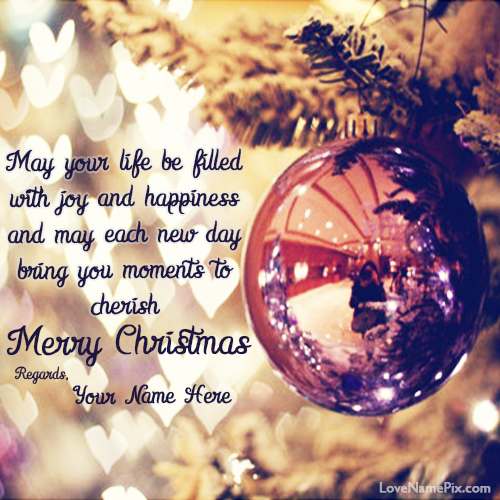 Write Any Name On Beautiful Wishing You Merry Christmas Quotes Image