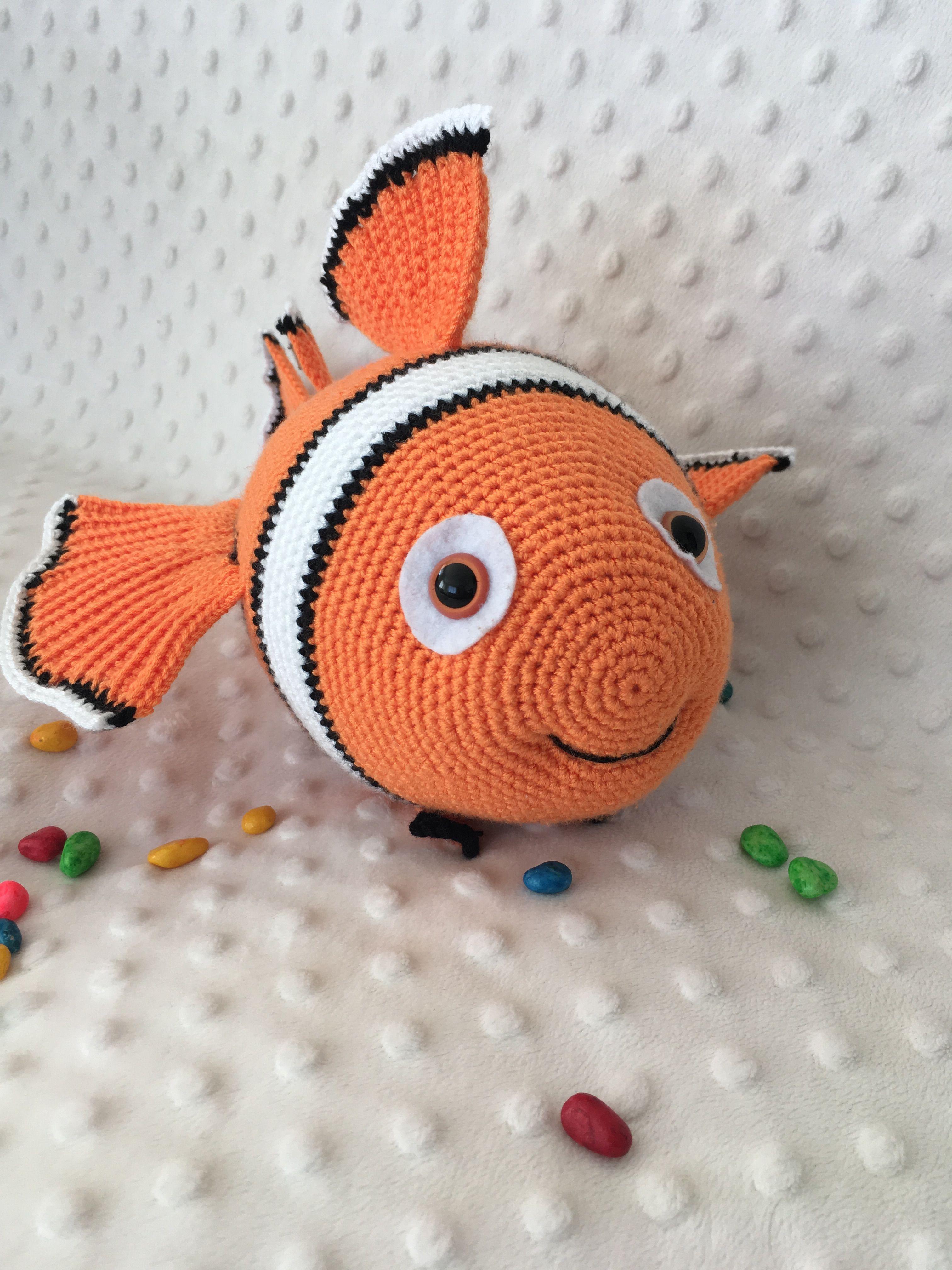 Crochet Nemo fish crochet clown fish handmade fish Nemo | Etsy | 4032x3024