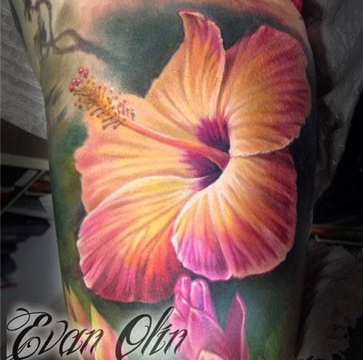 Watercolor Hibiscus Tattoo Watercolor Tattoo Flower Tattoos