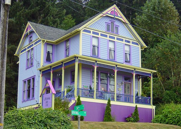 Exterior color schemes 02 exteriorhousepaint more at exterior designs - Purple exterior paint image ...