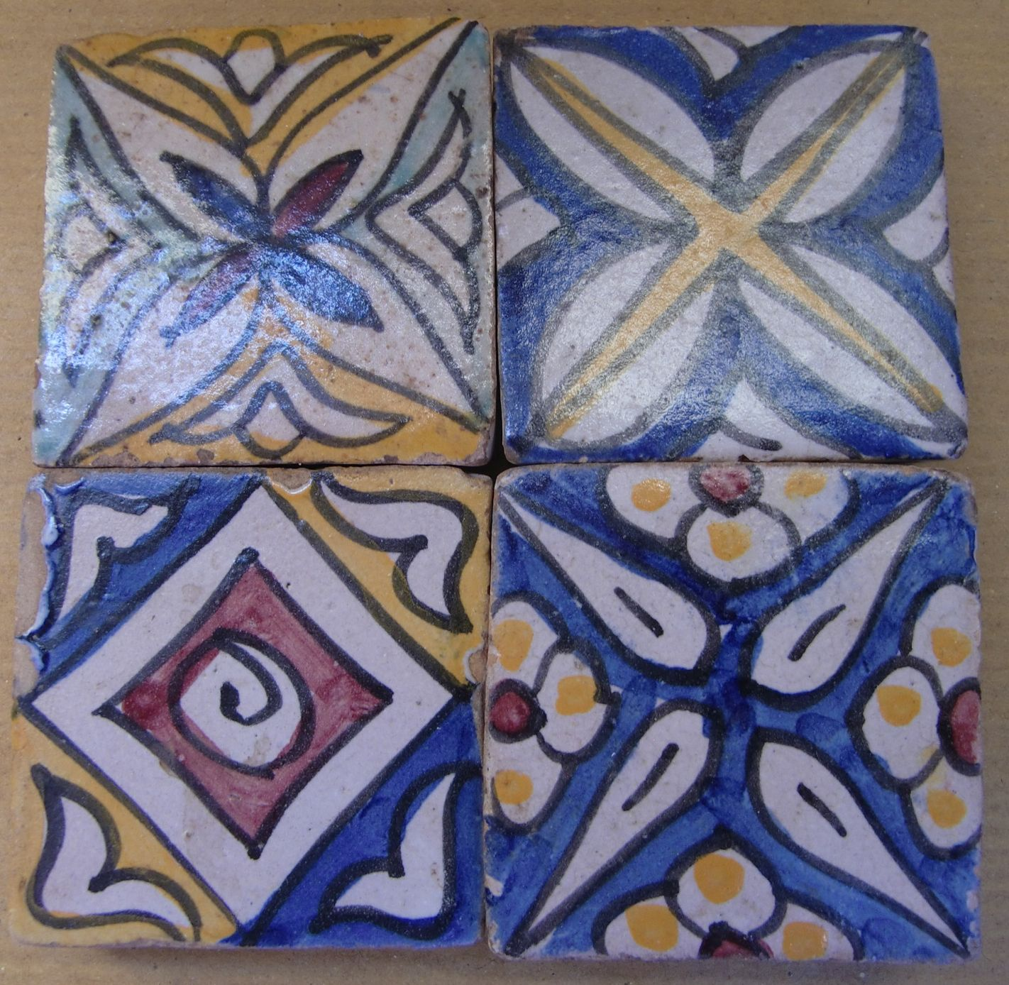 Beautiful Moroccan Tiles To Use As Magnets On Fridge And