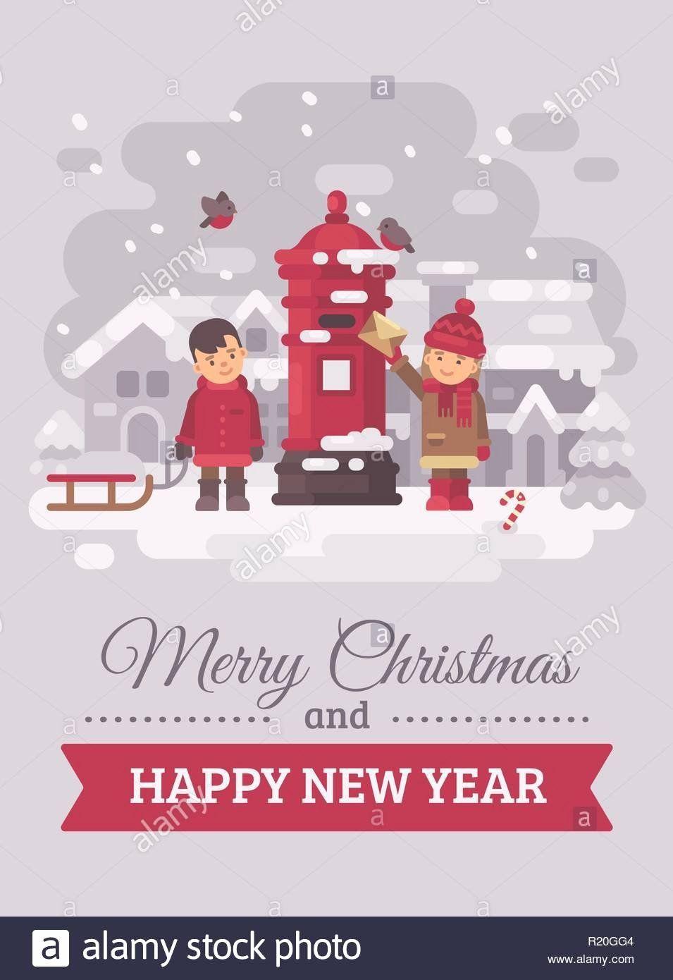 Silent Night Christmas Cards Awesome Christmas Card With Town Stock S Christmas Card With Town Silent Night Christmas Cards Christmas Card Template