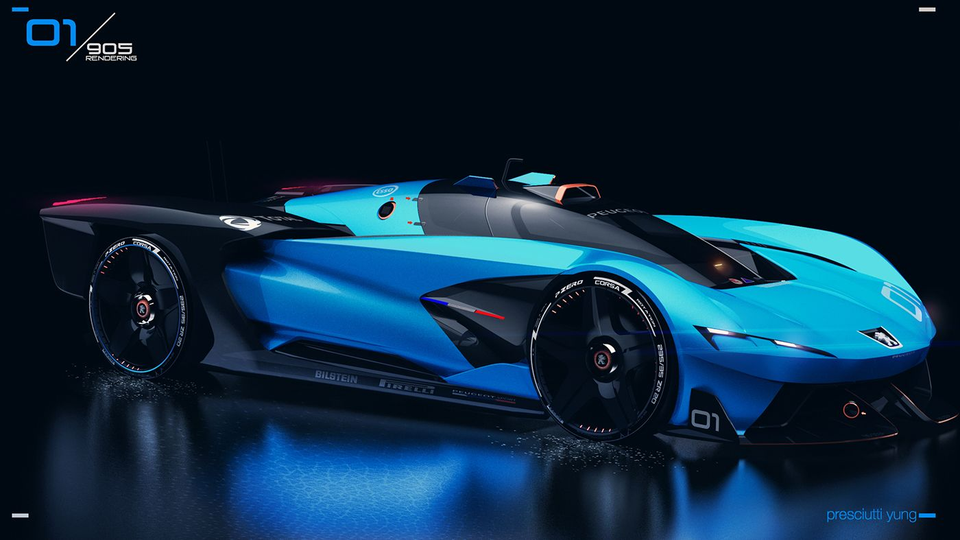 Peugeot 905e Is A Futuristic French Racer Carscoops In 2020 Futuristic Cars Peugeot Dream Cars