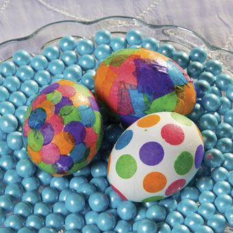 Tissue paper egg idea you want fun and easy easter crafts for kids of all ages this decorating doesn   disappoint also rh in pinterest