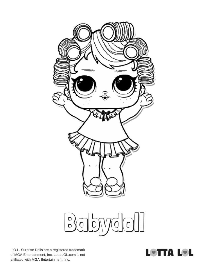 Babydoll Coloring Page Lotta Lol Coloring Pages Lol Dolls Kids