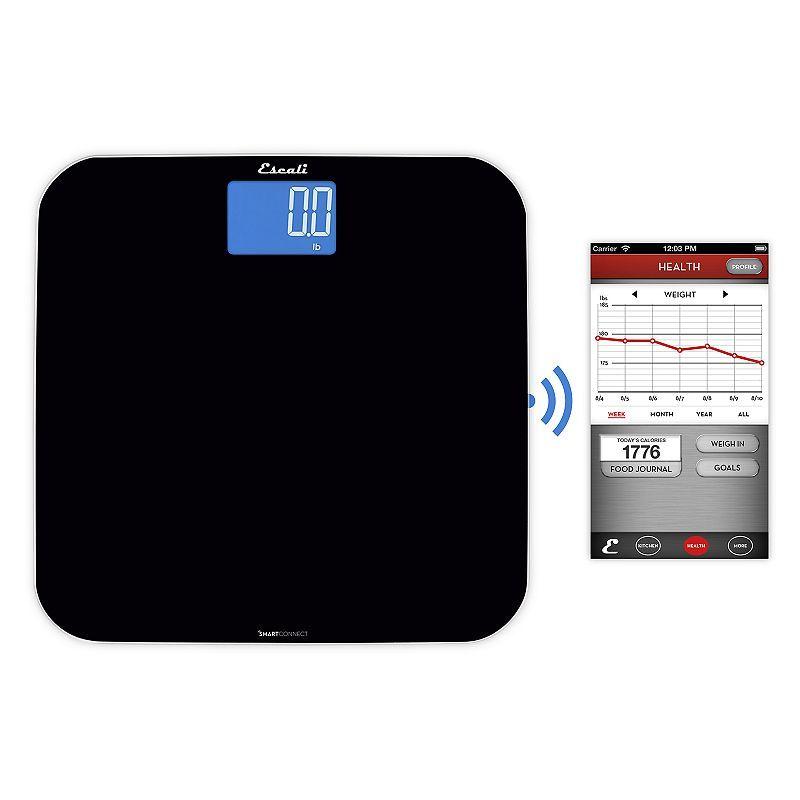 Escali SmartConnect Bathroom Scale, Black